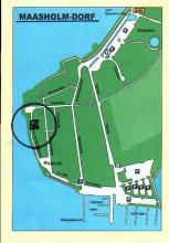 Karte zur Lage der Wohnungen im Fischerdorf Maasholm Dorf